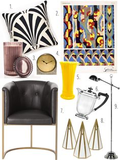 Art Deco Inspired Home Accessories.