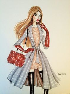 ORIGINAL Fashion Illustration Print -ANNA by Tatiana| Be inspirational❥|Mz. Manerz: Being well dressed is a beautiful form of confidence, happiness & politeness