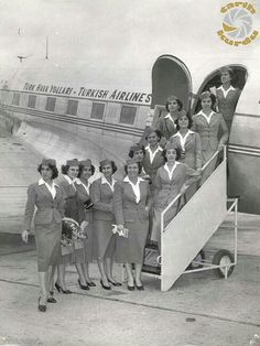 Here we reveal which airlines have been deemed most fashionable - and take a closer look at the uniforms in question. Airline Cabin Crew, Airline Travel, Air Travel, Old Pictures, Old Photos, Vintage Photos, Turkey History, Turkish Airlines, Ethiopian Airlines