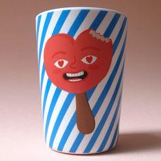 Alice Oehr icecream cup colab with Douglas & Hope.