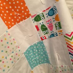 "New baby quilt- ""Urban Zoo"""