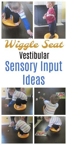 Vestibular Sensory input activities using a wiggle seat. Improve your child's balance, help them cross midline, executive functioning etc.