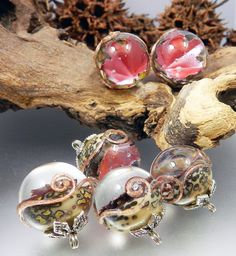 GLASSACTCC-Falling-Leaves-Handmade-Lampworked-Glass-Beads-Jewelry-SRA