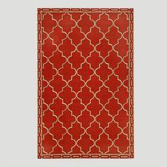 One of my favorite discoveries at WorldMarket.com: Red Floor Tile Indoor-Outdoor Rug