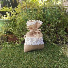 50 Pieces Natural Rustic Burlap Wedding Favor Bag by GoodieGifts