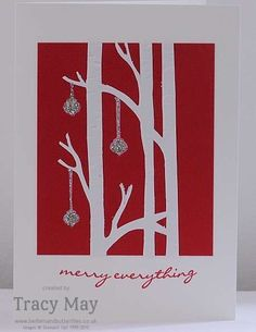 Stampin' Up! Woodlands Embossing Folder Christmas Card Tracy May