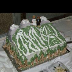 #skislope #wedding #caketopper