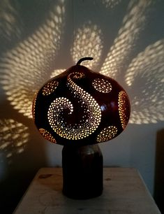 'Moroccan Swirl' Gourd Luminary by Gorgeous Gourds