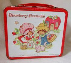 Vintage Lunch Box- Strawberry Shortcake 1980