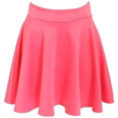 Pilot Ellie Scuba Skater Skirt ($14) ❤ liked on Polyvore featuring skirts, coral, pin skirt, coral skater skirt, circle skirt, red flared skirt e red skirt