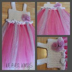 Weaver wings crochet  top tutu dress on sale for girls. Weaverwings@gmail.com