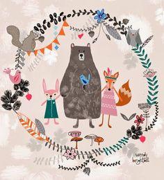 Beautiful illustration print & pattern: DESIGNER - wendy brightbill