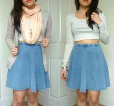 skater skirt outfits - Google Search