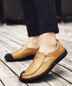 fd414314d08c Casual shoes men  s leather breathable sports shoes slip feet shoes new  autumn and winter