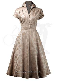 Late 40s (early 509s?) Weekender Dress in gold brocade. Loving this for an alternative style xmas party dress! Made in GB