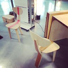 I love these chairs from Paris Design Week 2013
