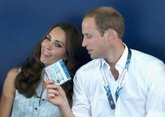 Prince William helps Kate Middleton cool off.