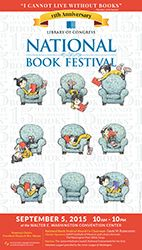 New Yorker illustrator Peter de Sève on his Book Festival poster design - The Washington Post Library Of Congress, National Book Festival, Jefferson Quotes, Thomas Jefferson, The Big Read, Festival Information, Marilynne Robinson, Fairs And Festivals, Personal Library