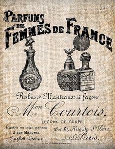 Antique Paris Perfume Label