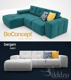 """PROFI"" BoConcept bergen AA01 3dsMax 2012 + fbx (Vray) : Диваны : Файлы : 3D модели, уроки, текстуры, 3d max, Vray"