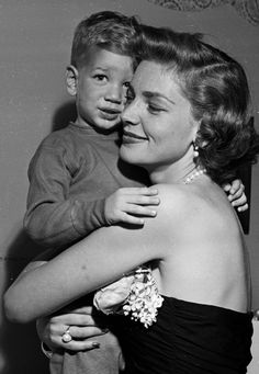 Lauren Bacall and her son