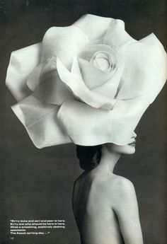 now that is a rose hat! #beauty #fashion #rose #hat, #blackandwhite