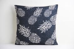 Pineapple Pillow Cover, Pillow Cover, Decorative Pillow Cover, Pillow Case, Cushion Cover,Linen Pillow Cover,Throw Pillow,18x18 Pillow Cover