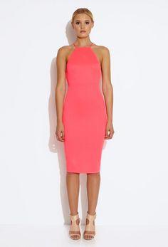 Crime Bodycon Mini Dress - Acid Pink £75
