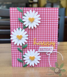 Simple Daisies I'm keeping it really simple here with these fresh white dais. Simple Daisies I Handmade Birthday Cards, Greeting Cards Handmade, Easy Handmade Cards, Travel Picture, Poinsettia Cards, Bday Cards, Diy Papier, Inspirational Artwork, Stamping Up Cards