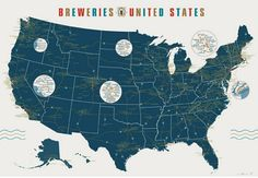 So I love maps, but a brewery map just makes it that much more radical
