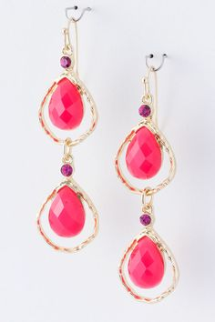 Raspberry Charlie Teardrops on Emma Stine Limited $38