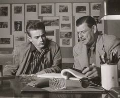 """jamesdeantributo: """" James Dean and screenwriter Fred Guiol """""""