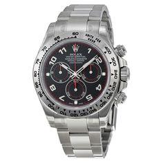 Rolex Daytona Black Arabic Dial Oyster Bracelet 18k White Gold Men's Watch 116509PSO