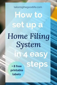 Is it time to declutter your paperwork? Let's talk about a home filing system for your paper organization. I give you tips and ideas to get started plus storage solutions. #paper #declutter #homefilingsystem #paperorganization Desktop Organization, Paper Organization, Life Organization, Home Filing System, Admin Day, Paper Clutter, Printable Labels, Let Them Talk, Working Moms
