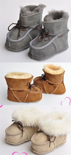 New Hot Surfer Baby Sheepskin Shearling Booties Suedel Wool Boots Infant/Toddler Shoes free shipping crib shoes $11.38