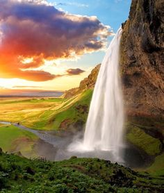 A sight straight from storybooks, Seljalandsfoss is one of the best known waterfalls in Iceland | TOP 10 Things to See and Do in Iceland