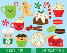 digital clipart, digital papers, commercial use, DIY by tereveladesign Christmas Tree Clipart, Christmas Cartoons, Christmas Characters, Christmas Graphics, Christmas Images, Christmas Balls, Christmas Treats, Kids Christmas, Market Day Ideas