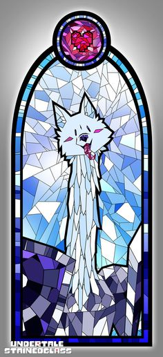 LESSER DOG - Undertale Stained Glass by Aelorz