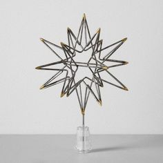 Moravian Star Tree Topper - Silver - Hearth & Hand™ with Magnolia at Target. Available November Affiliate link. Rustic Christmas Ornaments, Christmas Tree Toppers, Christmas Tree Decorations, Woodland Christmas, Christmas Trees, Star Tree Topper, Rustic Tree Topper, Black Christmas, Christmas Home