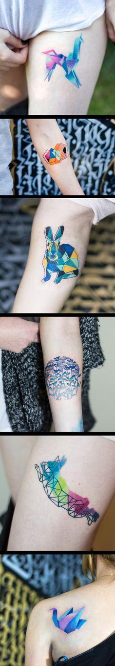 Colorful Geometrical Tattoos --- Dogma Acidous artist