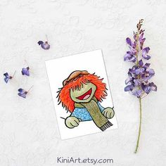 Original Art Illustration Pocket Boober ACEO  Artist signed & dated ORIGINAL Fraggle art by KiniArt artist, Kim Niles; created in India inks & color pencils on ACEO art paper for a Threadless design contest. My entry didnt win but this original drawing is now available for purchase. Title: Pocket Boober Size: Art - ACEO (2.5 x 3.5) Mat: No, matting is not included in this listing Frame: No, frame is not included in this listing  Copyright Information: Drawing copyright © Kim Niles of ...