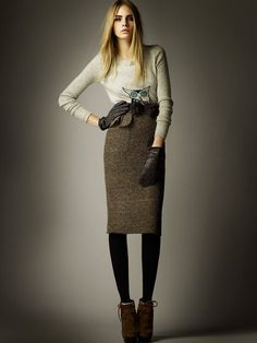 Burberry. Dying over the pencil skirt.