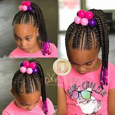 hair braids for kids / hair braids . hair braids tutorials step by step . hair braids for kids . hair braids for men Short Hair Twist Styles, Little Girl Braid Styles, Kid Braid Styles, Little Girl Braids, Braids For Kids, Girls Braids, Natural Hair Styles, Toddler Braids, Braids Easy