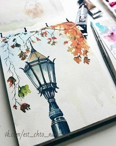 Image in illustration / inspiration collection by lovely gallery . - Image in illustration / inspiration collection by lovely gallery … – Image in the illustrat - Fall Drawings, Pencil Art Drawings, Art Drawings Sketches, Watercolor Portraits, Watercolor Paintings, Easy Watercolor, Tattoo Watercolor, Watercolor Trees, Watercolor Animals