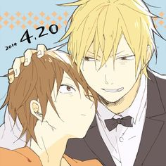 Young Shizuo and Grown Shizuo