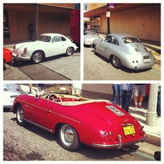 Three Porsche 356s