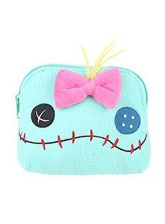 """<p>Fuzzy cosmetic bag from Disney's <i>Lilo & Stitch</i> with an embroidered Scrump face design. Zip closure.</p>  <ul> <li>5 1/2"""" x 6 1/2""""</li> <li>Man-made materials</li> <li>Imported</li> </ul>"""