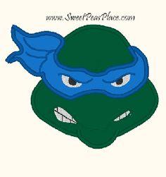Teenage Mutant Ninja Turtle Applique Face Design