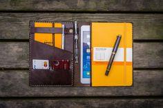 iPad Mini & Large Moleskine Cover-Dark Brown - GalenLeather  - 1