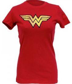 Wonder Woman red logo T-Shirt